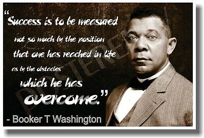 Success Is to Be Measured - NEW Famous African American Author Poster