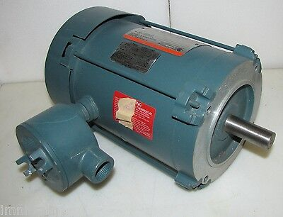 Reliance 1HP Electric Motor Hazardous Locations 208-230/460V 1725  HB143T