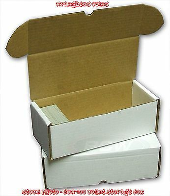 Lot of 50 New BCW 500 COUNT BASEBALL & HOCKEY TRADING CARD CARDBOARD STORAGE BOX