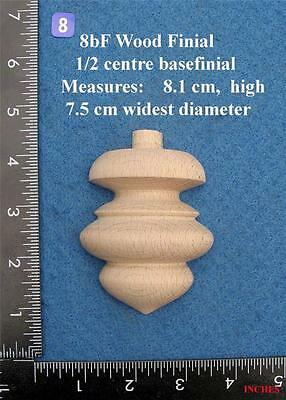 *Single centre of base 1/2 Clock / furniture Finial Style 8BF
