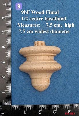 *Single centre of base 1/2 Clock / furniture Finial Style 9BF