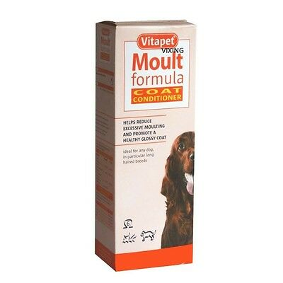 Vitapet Moult Formula Coat Conditioner For Dogs Andpuppies Rich In Omega 6 150Ml