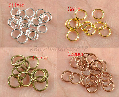 200pcs 4,5,6,7,8,9,10MM Metal Jump Rings Open Connectors Jewelry Make Findings