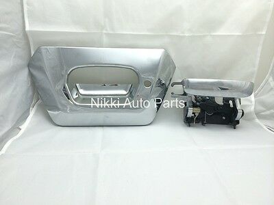 Bezel & Tailgate Liftgate Rear Back Latch Door Handle for Avalanche 02-06 Chrome