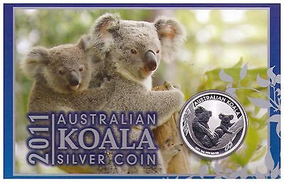 2011 1oz 999 Silver Koala Bullion Perth Mint - Carded