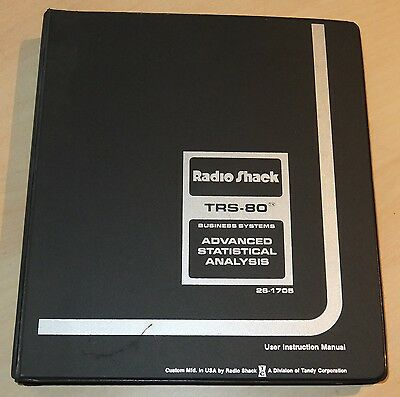 Advanced Statistical Analysis software for the Tandy TRS-80 Model I / III