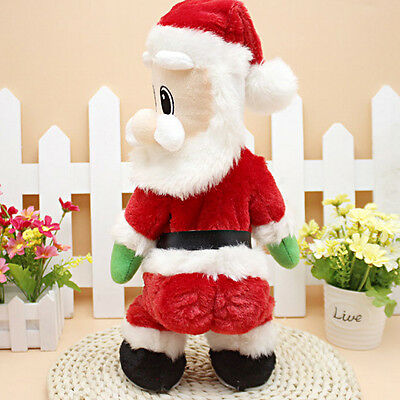 Christmas Animated Santa Claus Hip Dancing Singing Electric Toys Xmas Funny Toy