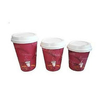 SOLO Hot Drinks Paper Cups, 25, 50 to 500 Coffee Catering Disposable Sip Lids