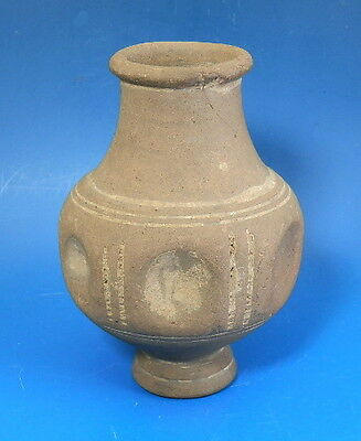 Roman New Forest Ware? Dimpled Pottery Pedestal Vase (H665)