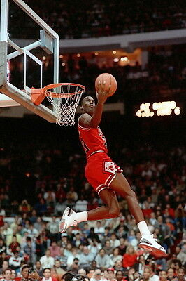 "57 Michael Jordan Slam Dunk NBA 14""x21"" Poster"