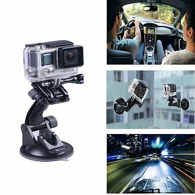 Smatree GoPro Accessories Suction Cup Mount For GoPro Hero4, 3+, 3, 2, 1 Cameras