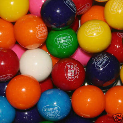 """Lot Of 200 Gum Balls -1"""" Round Dubble Bubble Gumballs  $50 Value Sealed In Bags"""