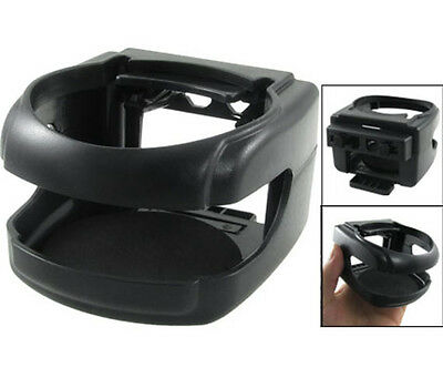 Black Clip-on Plastic Cup Can Drink Bottle Holder Fit for Auto Car Vehicle New