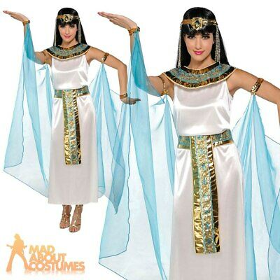 Adult Cleopatra Costume Egyptian Queen Fancy Dress Ladies Outfit Greek Goddess