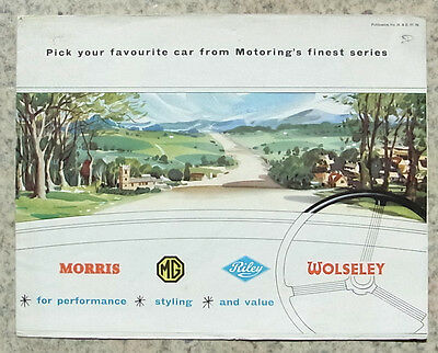 MORRIS MG RILEY WOLSELEY Car Sales Brochure 1957 #57-56 Minor 1000 MGA Magnette+