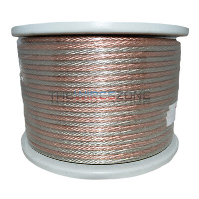 SW-10-250A High Quality Clear 10 Gauge 250' Feet Speaker Wire for Home/Car Audio