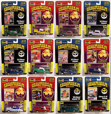 NEW COMPLETE SET Revell 1/64 LOWRIDER MAGAZINE Issue Cars Diecast GET ALL 12