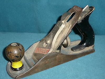 """TOOLS VINTAGE HAND WOODEN PLANE STANLEY HANDYMAN PLANE 9-1/2"""" LONG MADE IN U.S.A"""