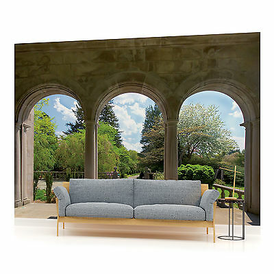 Country murals garden arch window wallpaper mural for Cn mural designs