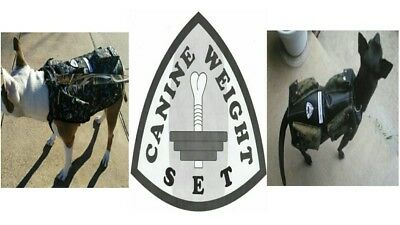 CANINE WEIGHT SET/Weighted Animal Vest-Large 20lbs. - Dog Size: 70-100 Pounds