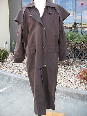 """new""  Adult Oilskin Stockman Jackets Full Length Coats..unisex,  Medium"