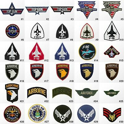 #1375IR Military Navy Air Force Army Aircraft Jet USAF Sew Iron on Patch Badge