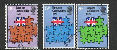 GB 1973 Britains Entry into European communities fine used set stamps