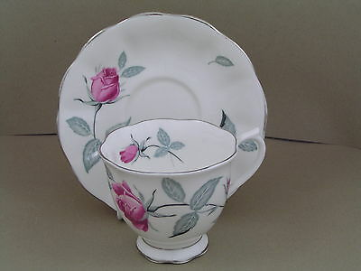 ROYAL ALBERT TRENT ROSE CUP AND SAUCER.