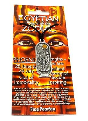 Phoenix (Immortality) Egyptian Cartouche Pendant (Lucky Astrology Necklace)