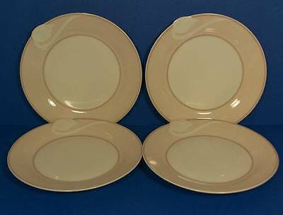 Hutschenreuther Fontaine Pink Rim Lot of 4 Bread & Butter Plates Mint!
