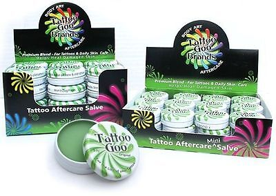 Tattoo Goo Aftercare Salve Tin Natural Healing Skin Care .33oz .75oz Case Kit