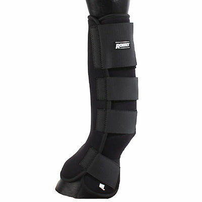 Roma Neoprene Turnout Boots Protective Leg Wraps ,Black, All Sizes,Fast Delivery