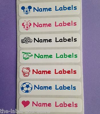 25 Sew in/Iron on & 25 Stick on Waterproof School Kids Name Labels Tapes Tags