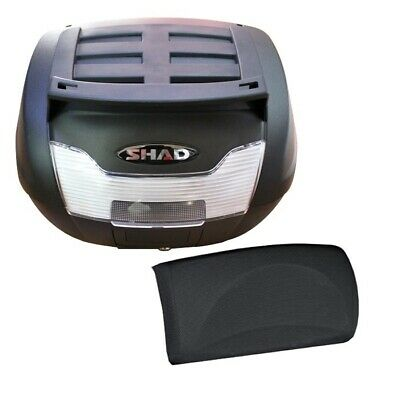 Shad Sh40 40L Cargo Top Box & Backrest Motorcycle Scooter