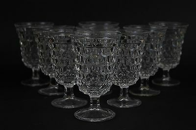 Set of 9 Vintage Fostoria Americana Low Water Glasses