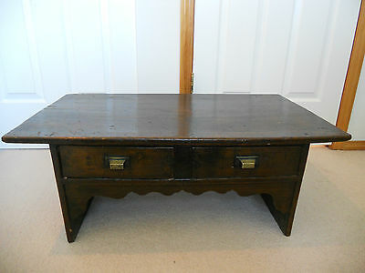Rare Korean Joseon Dynasty Scholar's Low Desk with 2 Drawers