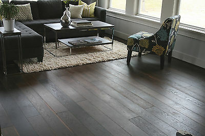 "6"" Brushed Vintage Noir UV Oiled Engineered Floating Wood Floor Flooring Sample"