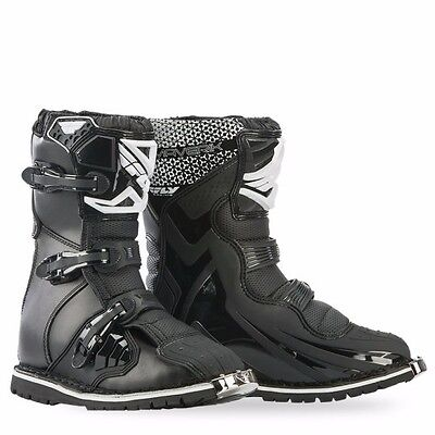 FLY BLACK MAVERIK SHORTY Boots Off-Road ATV Quad DUAL SPORT ALL SIZES