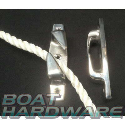 2 x Fairleads Bow Boat Chock Cleats 115mm Marine 316 SS Rope Guide Boat Yacht