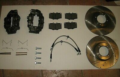 New Performance Big Brake Kit Calipers Rotors Hoses etc. Triumph TR6 TR250 TR4A