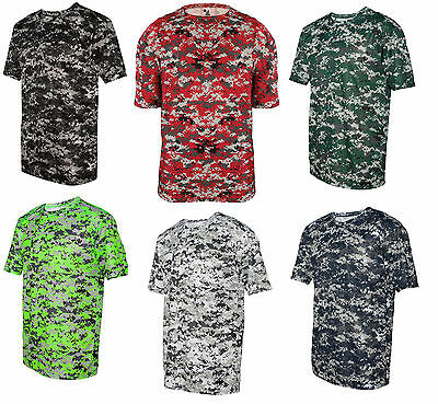 5b3d676c BADGER MENS B-CORE Digital Tee Camouflage T-Shirt S M L XL 2XL 3XL ...