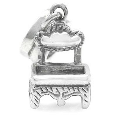 925 Sterling Silver Pendant Chair Bead Charm