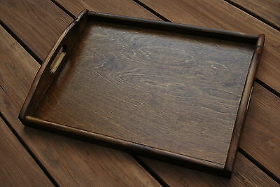 Plain Wood - Wooden Serving Tray 40cmx30cmx5.5cm in brown color