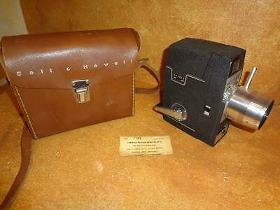 Bell & Howell 8mm Movie Camera f 2.3 Leather Carry Case
