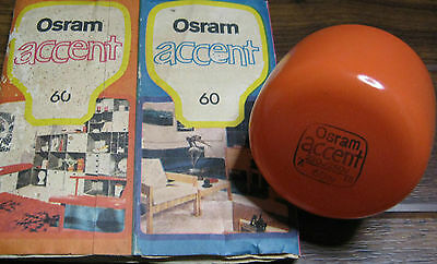 Light Bulb Globe Vintage 240V 60Watt Retro Orange 70's