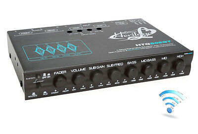 Lanzar HTG50EBT Wireless 4-Band EQ Parametric Equalizer w/Subwoofer Gain Control