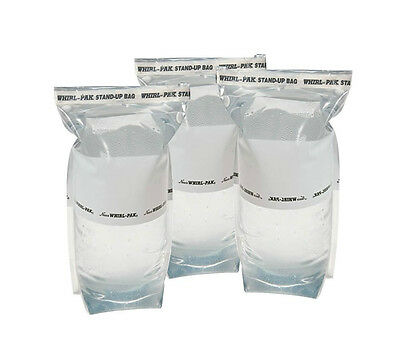3 Whirl-Pak 1 Liter Stand-Up Water Collection Bags for Survival Kits