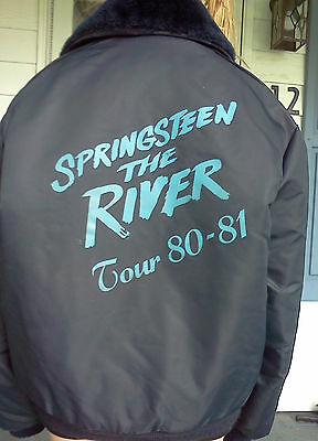"""Bruce Springsteen """"the River Tour 80-81"""" Promo Bomber Style Tour Jacket"""