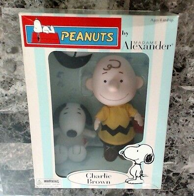 PEANUTS Charlie Brown Doll and Snoopy by Madame Alexander 2001