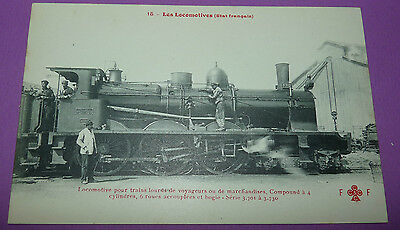 Postcard Cpa Locomotive Train France Voyageurs Marchandises Serie 3701-3730